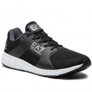EA7-Emporio-Armani-7-Scarpe-Uomo-Sneakers-Nero-Logo