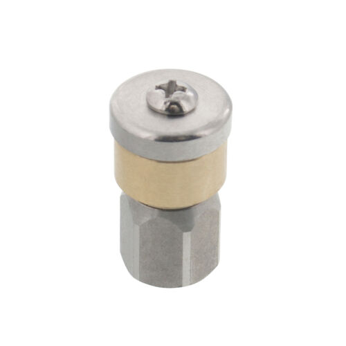 """Erie Tools Rotating 1//8/"""" Sewer Jetter Nozzle for Drain Cleaning 4.0 Orifice"""