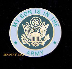 3ceb3401 US ARMY SON HAT LAPEL PIN UP USA VETERAN VET MOM DAD DAUGHTER EAGLE ...