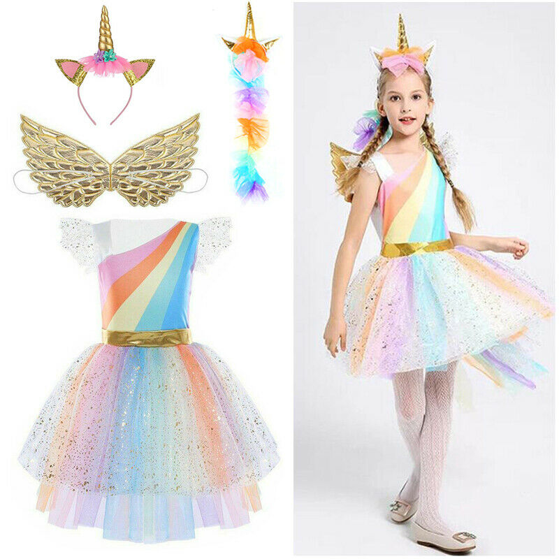 Kids Girls Princess Swing Party Tutu Dress Christmas Fancy Wedding Gown Dress UK