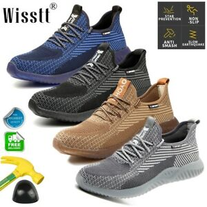 Mens-Waterproof-Safety-Steel-Toe-Cap-Work-Hiking-Boots-TPR-Ankle-Shoes-Sneakers