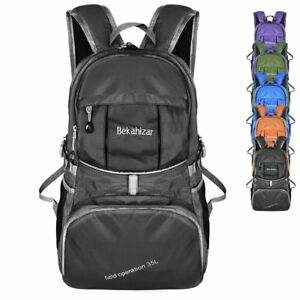 Image Is Loading 35l Lightweight Backpack Foldable Hiking Day Pack Packable