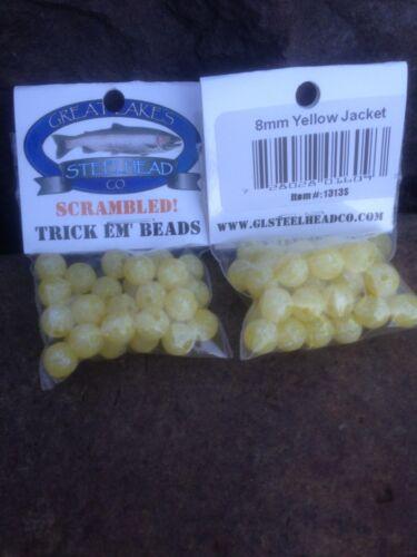 Trick EM Poisson Perles brouillés Veste Jaune 8 mm Pack de 1