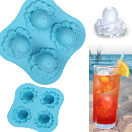 Octopus Silicone Ice Cube Tray Mold 3D Chocolate Jelly Maker Mould Party