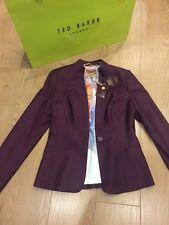BNWT and Bag❤️Ted Baker Shiny Lavanta Suit Jacket Blazer size 2 (UK 10) RRP 215£