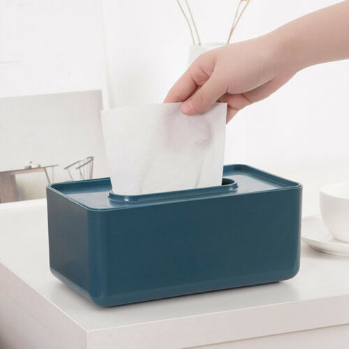 Nordic Style Plastic Tissue Box Paper Towel Tissue Case Holder Table Organ RAS