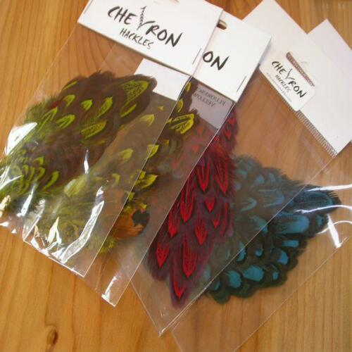 Chevron Hackles Pheasant Shoulder PatchesFly Tying FeathersVarious Colours