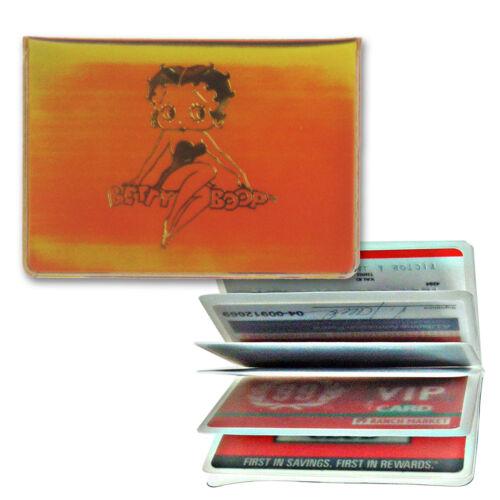 Betty Boop Rare Vintage Yellow Orange Credit Card Holder Lenticular #BB-R004-ID#