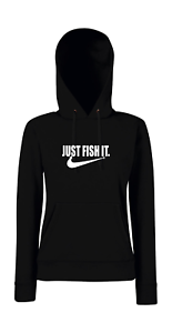 Just Fish It Pesca Pesca Pesca i Digreenente i Digreenente i Detto Girlie Felpa con Cappuccio ee384e