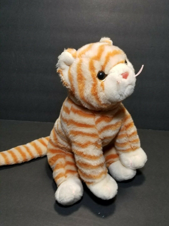 Ty Beanie Buddies COBBLER Cat Kitten orange Cream Cream Cream Stripe Tabby 11  Plush 1999 736bf2