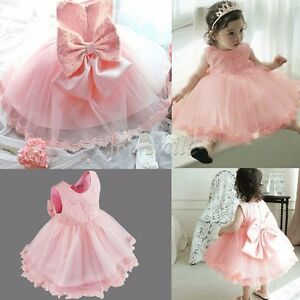 Infant-Baby-Girls-Floral-Lace-Birthday-Party-Wedding-Pageant-Princess-Tutu-Gown