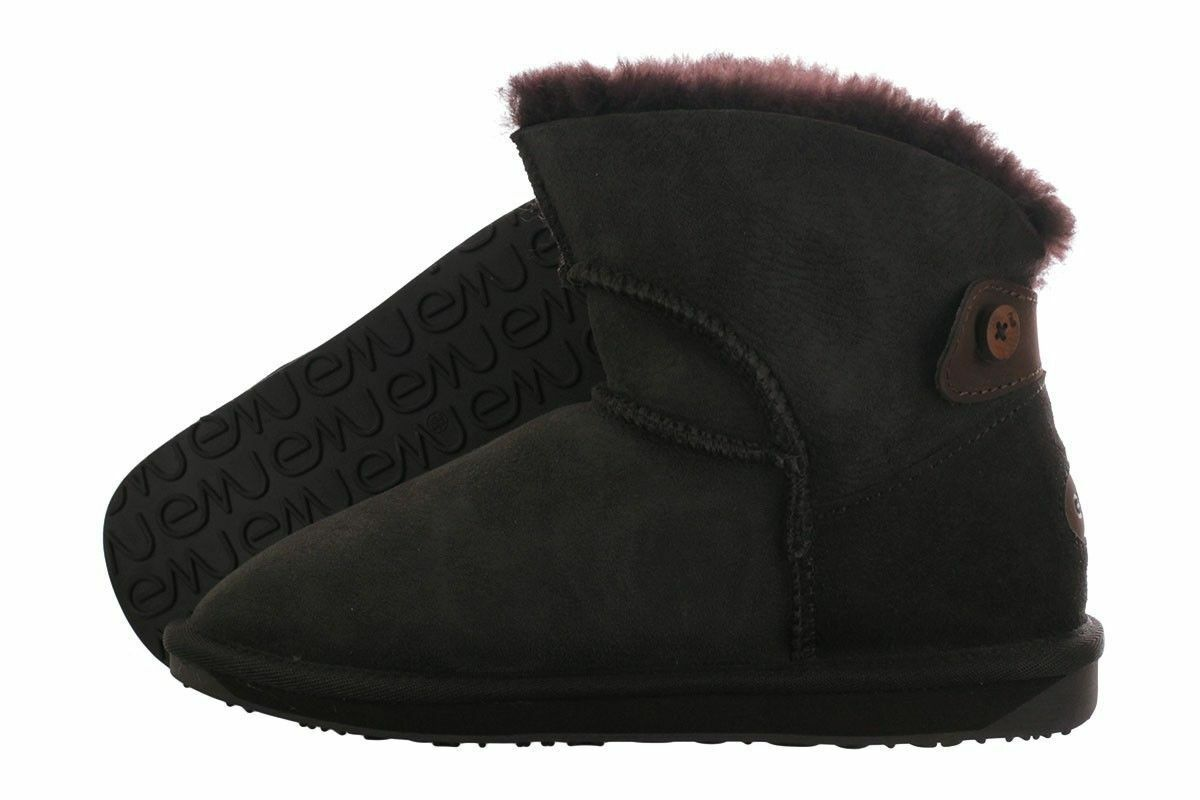 Emu Alba Mini Mini Australian Sheepskin W10835-CHOC Boots Medium (B, M) Womens