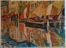 Franz Kienmayer, Ghioggia ( Venedig ), Aquarell, 36 x49 cm, signiert und bez.