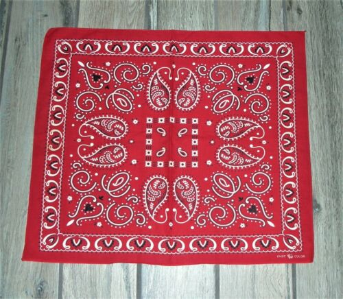 ELEPHANT TRUNK DOWN Vintage 1940s Bandana Red Fast