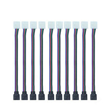 4PIN RGB Conector de cable alambre 3528 5050 SMD LED Tiras de luces Macho Hembra