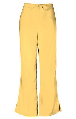 Cherokee Workwear Flare Leg Drawstring Pants Dandelion PETITE 4101P DANW