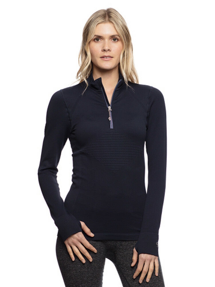Goode Rider Long Sleeve Seamless Compression Shirt-Navy-L