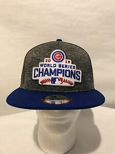2014fa72d1fe7 Custom New Era 9FIFTY Chicago Cubs World Series Champs Snapback ...