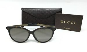 3c4eace1879 Image is loading Gucci-GG0223SK-Women-039-s-CatEye-Sunglasses-Havana-