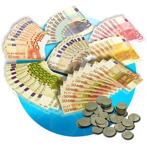 Spielgeld 90teilig Kaufmannsladen Münzen Scheine Kinder Set Euro