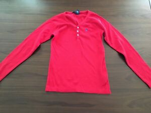 Ralph-lauren-red-V-necked-children-039-s-top-new-without-tags-8-10yrs-Medium
