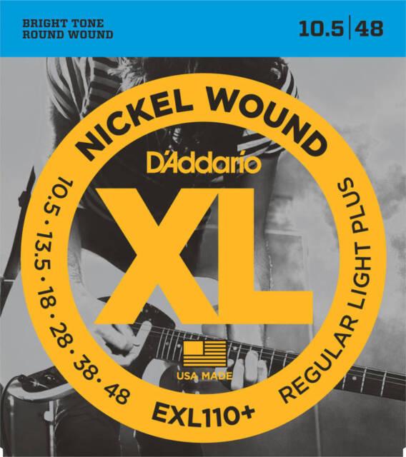 D'Addario EXL110+ Box of 10 XL Nickel Light Plus 010-046 Electric Guitar Strings