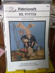Oop-Fabricraft-Mr-Potter-18-034-garden-bunny-plastic-bottle-doll-NEW