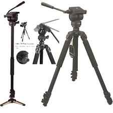 Professional Video Camera tripod & Monopod with Fluid Drag Head,tripod, 60 inch