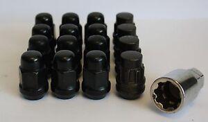 12 x M12 x 1.5 nero dadi delle ruote & Chiusura per VOLVO S40 V40