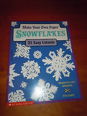 Book Art Teacher Resources Supplies Paper Snowflakes Cutouts Stencils Crafts