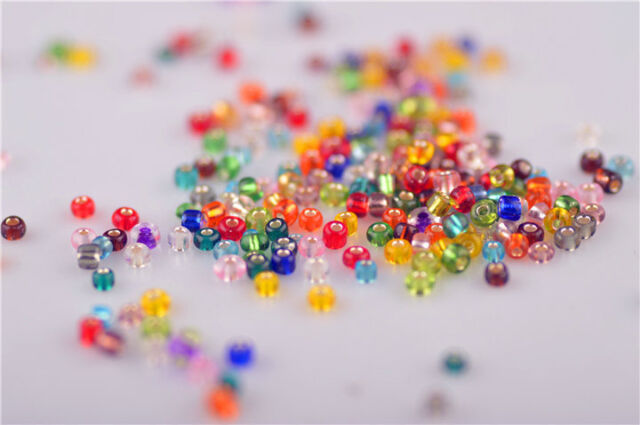 1000Pcs Mix Color Glass Loose Beads Spacer Rondelle Jewelery Findings 2mm