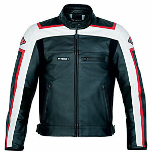 MTech-Men-039-s-Leather-Motorcycle-Jacket-Street-Custom-Vintage-Ducati-Dainese