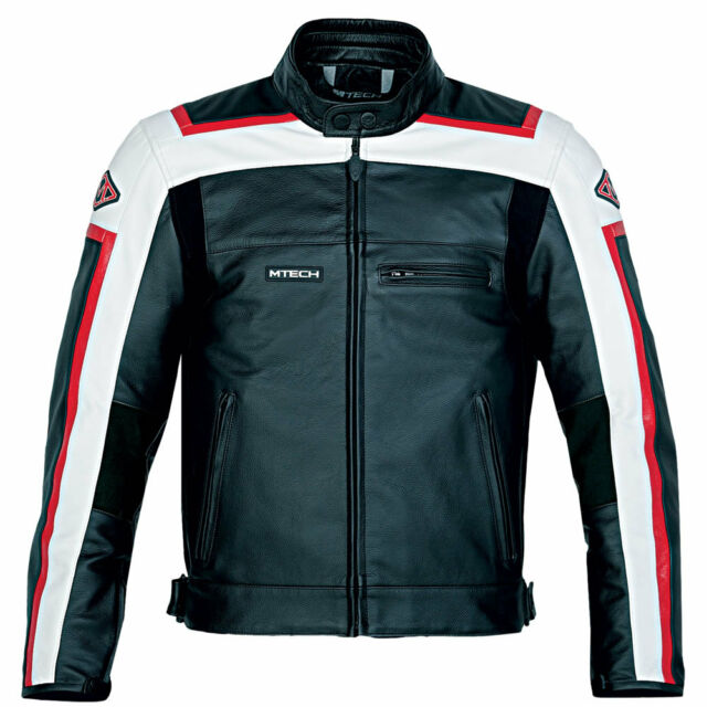 MTech T-Sport Leather Motorcycle Jacket, Street, Racing, Custom.