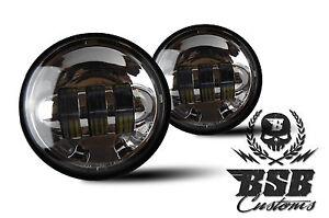 LED-Zusatzscheinwerfer-Harley-Davidson-4-Zoll-Road-King-Electra-Glide-CHROME