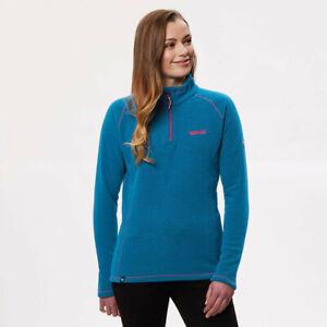 Regatta-Womens-Kenger-Half-Zip-Fleece-Top-Blue-Sports-Outdoors-Breathable