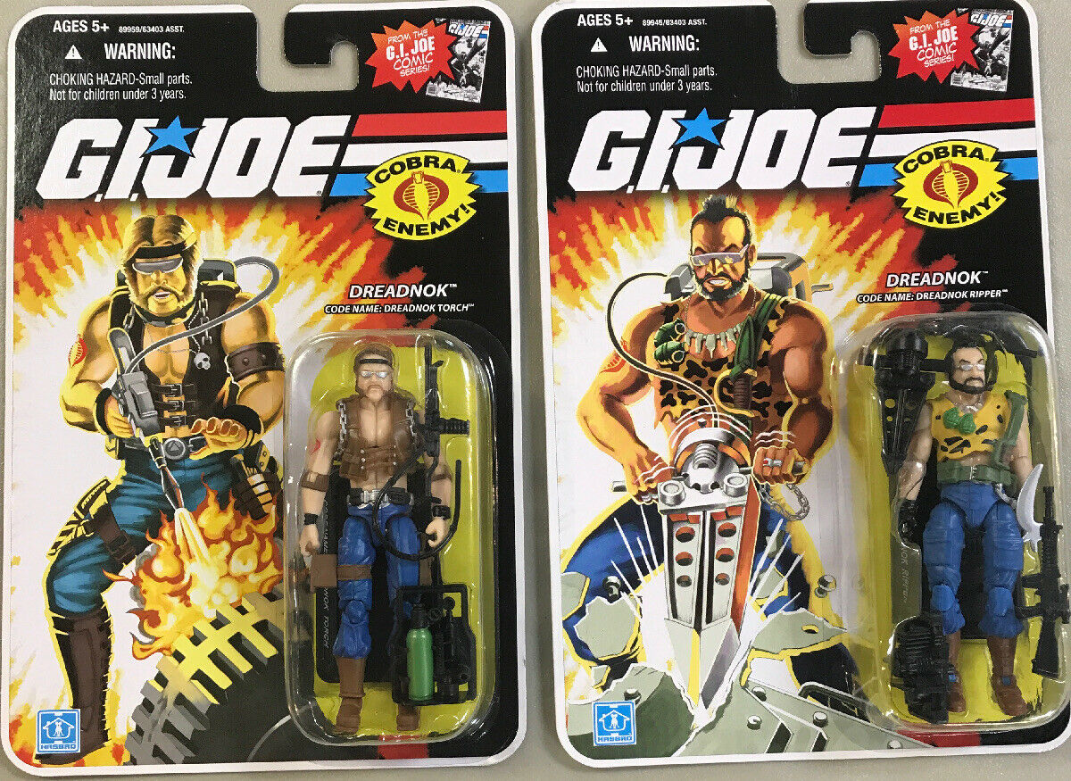 G I GI JOE 25TH ANNIVERSARY DREADNOK RIPPER & Torch Set