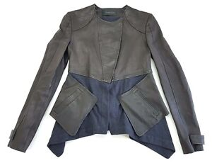 Thakoon-Paneled-Black-Leather-Jacket-Womens-Size-2