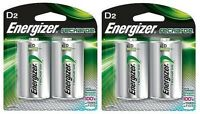 Energizer Nh50bp-2 Rechargeable D Nimh Batteries (2 Packs Of 2 = 4 Batteries) on sale