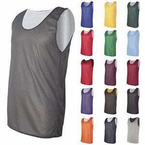 97586a9b4c0f Image is loading Blank-Plain-Basketball-Mesh-Reversible-Jersey-Badger-Pro-