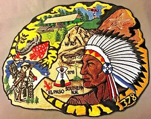 GILA-LODGE-378-OA-YUCCA-COUNCIL-FLAP-TEXAS-66-78-INDIAN-8-034-JACKET-PATCH-50-MADE