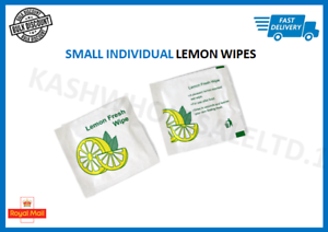1000 x LARGE Lemon scented Wet Wipes Hot//Cold Wrapped catering restaurant
