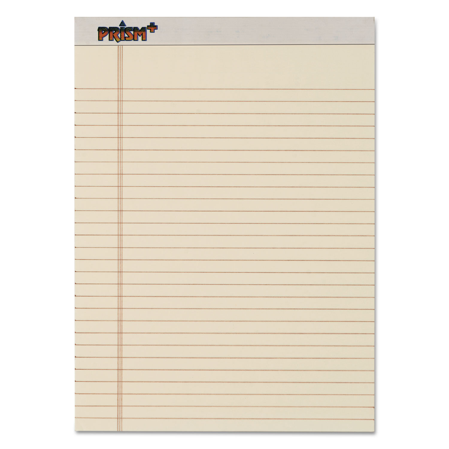 Tops Prism Plus colord Legal Pads 8 1 2 x 11 3 4 Ivory 50 Sheets Dozen 63130