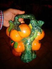 Ancienne Grosse Bouteille Kitch Fantaisie de Liqueur d'Orange genre Barbotine