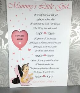 Image Is Loading Personalised Mummy Poem Gift Card Mothers Day