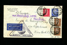 Catapult Cover 1933 Grau K141b Germany Post DOUBLE WEIGHT RATE
