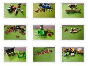 Playmobil fruit veg rabbits hutch tractor farmer ducks cow gardner you choose