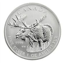 Canadian Wildlife Series Moose 2012 1 oz .9999 Silver Coin