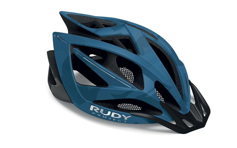 Casco de Bicicleta Rudy Proyecto Airstorm MTB azul-Titanium-Camo Mate