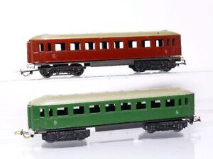 Piko-H0-2-Pieces-vieux-D-Locomotive-de-traction-2nde-classe-vert-et