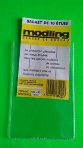 10 ETUIS/Pochettes plastique transparent de protection document 80 x 130 mm NEUF